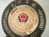 绵阳建军周年礼品定做 八一部队纪念品 干警退役纯铜奖牌价格