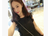 2014新款**定制 超精致1sabel 韩版夏装无袖女雪纺衫上