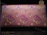女士晚宴包 福叠万字纹(紫色)宋锦面料厂家