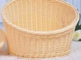 藤编食品级PP仿藤篮面包筐 超市商品展示圆形高低收纳筐