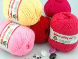 宝宝毛线蚕丝蛋白绒中粗牛奶棉线婴儿毛线儿童围巾钩针线特价