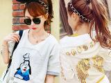韩国编织豹纹蝴蝶结兔耳朵头巾发带发饰女头绳饰品厂家批发