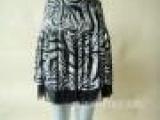 淘宝爆款 网纱冰丝夏季短裙 黑色动物纹必备夏季短裙