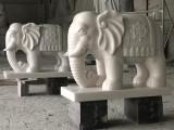 定制石雕大象 漢白玉小象 做工精雕多種場所擺件