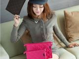 韩版时尚化妆包 菱形格子手提化妆包 收纳包可做外贸女士休闲包