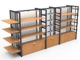 福建乐品 便利店双面端头展示架超市货柜阳光背板架货架