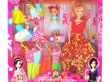 厂家直销 芭比娃娃精美礼盒套装 衣服换装娃娃 女孩过家家玩具