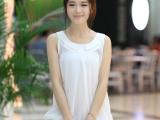 2014夏季新款女装 韩版吊带小背心 无袖圆领百搭宽松打底衫雪纺