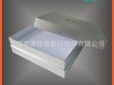 定做批发银色正方形礼品纸盒磨砂天地盖包装
