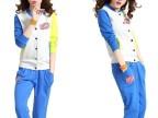 新款撞色运动休闲套装 女 春装卫衣两件套 运动服T022