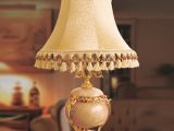 现代欧式布艺台灯 松香玉黄石客厅卧室灯饰 高档别墅酒店灯具