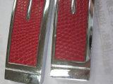 批量生产红色高档皮套卡片U盘工厂