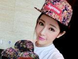 韩国日本潮牌原宿风supreme复古大花纹图案平沿嘻哈街舞棒球帽
