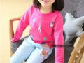 黑龙江童装批发网最低价秋冬季儿童卡通长袖套装批发小孩长裤批发