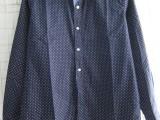 批发外贸男装男式衬衣衬衫长袖翻领波点休闲衬衣英伦衬衫