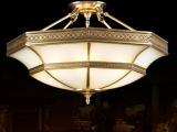 客厅吊灯半吊吸顶铜灯简约卧室书房吊灯吸顶灯具全铜玻璃焊锡灯