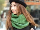 秋冬新款韩版两用毛线围巾围脖披肩批发 韩版百变围巾