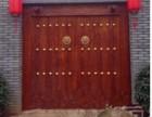 中式松木围墙双开大门实木进户门仿古庭院木门