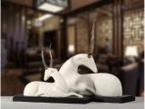 鹿树脂摆件 现代中式创意工艺品 开业礼品  优游ybz-x020