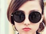 2014新款复古圆形大框墨镜  潮人男女时尚太阳眼镜出厂价直销