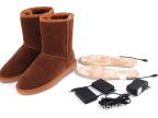 厂家直销充电发热雪地靴 电暖鞋 电热鞋 暖脚宝 多功能