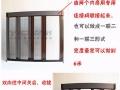 定做无轨隐形折叠纱门防蚊纱窗推拉伸缩风琴式铝合金卷