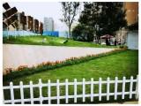 四川PVC草坪栅栏 优美雅塑钢PVC围栏
