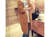 2014秋冬女装女士毛衣 韩国加厚毛衫外套 女式宽松版长款毛衣开