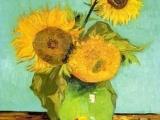 世界名画临摹手绘油画批发梵高油画作品向日