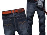夏季薄款复古 牛仔裤 男 韩版修身直筒 青春流行 时尚男装长裤子