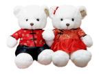 唐装婚纱熊熊 毛绒玩具 泰迪熊结婚压床娃娃 情侣熊 婚庆礼物一对