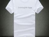 男式宽松白色t恤 进口棉t 外贸男式t恤特价处理