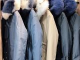蒂尔斯19年冬季新款皮草派克服 品牌折扣女装一手货源批发