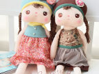 正品metoo咪兔可爱安吉拉女孩毛绒玩具公仔安抚娃娃布娃娃礼物