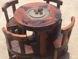 老船木会客茶台原生态实木茶台龙骨茶台茶桌办公待客茶桌椅