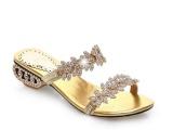 供应厂家直销水钻低跟凉鞋 欧洲站大牌真皮