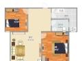 2室2厅1卫1阳台新城汇金广场万元元/月,家电齐全,拎包入住