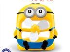2014新款卡通 小黄人风扇 学生USB充电风扇 神偷奶爸台式小电风扇