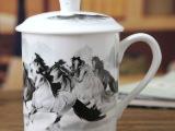 景德镇高档青花骨瓷 釉中对杯老板杯喝水杯茶杯陶瓷礼品杯 家批发
