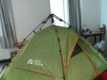 全新未用牧高笛户外露营三人帐篷全套齐全