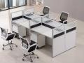 现代简约重庆办公家具 4人组合办公桌屏风隔断工作位卡位职员桌