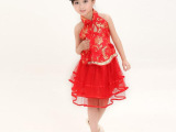 丝缘阁女童幼儿园表演服舞台服装儿童演出服装现代拉丁舞舞蹈裙