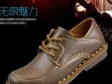 新款商务休闲男鞋皮鞋单鞋时尚潮流头层软牛皮鞋英伦流行男鞋
