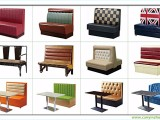 广州茶餐厅桌椅茶楼餐桌椅奶茶店桌椅西餐厅桌椅卡座沙发组合