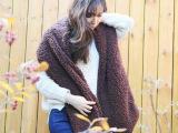 韩版新款仿羊羔绒围巾加厚保暖围脖男女情侣纯色加长围巾