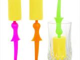 2306创意女士海绵杯刷 绅士杯刷 窈窕淑女专利产品杯刷 年底促