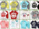2014新款韩版369数字套装国旗套装糖果色套装男童女童套装短袖