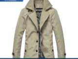 2014热卖东街口新款男英风衣中长款大翻领简约外套夹克风衣206