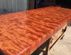 原木老板桌办公家具巴花红木实木大板桌茶桌餐桌大班台