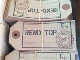 厂家直销现货吊牌商标一套定做吊牌商标 牛皮纸吊牌